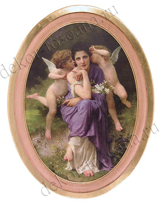 "William-Adolphe Bouguereau (1825—1905) ""Шёпот любви"""